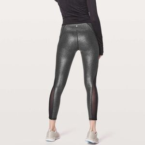 Lululemon train times 7/8 pant foil print black
